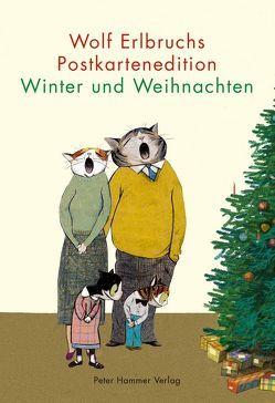 Wolf Erlbruchs Postkartenedition Winter und Weihnachten von Erlbruch,  Wolf