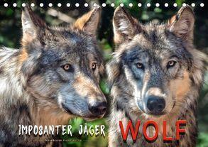 Wolf – Imposanter Jäger (Tischkalender 2018 DIN A5 quer) von Roder,  Peter