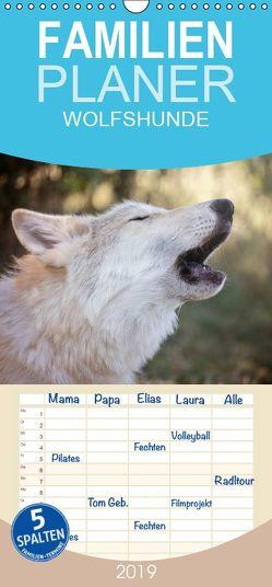 Wolfshunde 2019 – Familienplaner hoch (Wandkalender 2019 , 21 cm x 45 cm, hoch) von Photographie,  ARTness