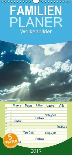 Wolkenbilder – Familienplaner hoch (Wandkalender 2019 , 21 cm x 45 cm, hoch) von Roth,  Martina