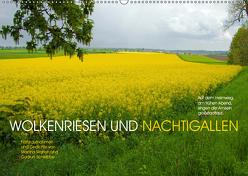 Wolkenriesen und Nachtigallen (Wandkalender 2019 DIN A2 quer) von Marten und Gudrun Schwibbe,  Martina