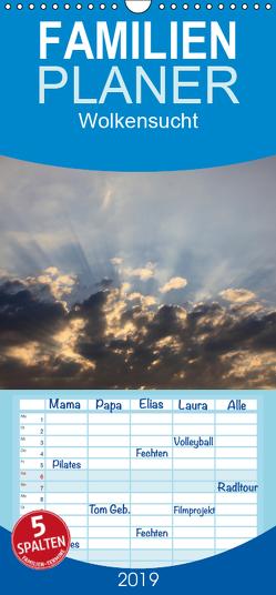Wolkensucht – Familienplaner hoch (Wandkalender 2019 <strong>21 cm x 45 cm</strong> hoch) von Weis,  Stefan