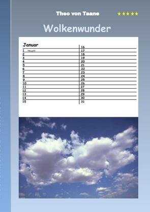 Wolkenwunder – Kalender von von Taane,  Theo
