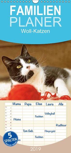 Woll-Katzen – Familienplaner hoch (Wandkalender 2019 , 21 cm x 45 cm, hoch) von CALVENDO