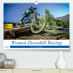Women Downhill Racing (Premium, hochwertiger DIN A2 Wandkalender 2021, Kunstdruck in Hochglanz) von Fitkau,  Arne