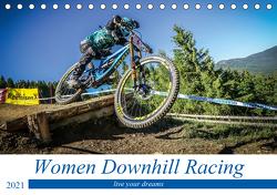 Women Downhill Racing (Tischkalender 2021 DIN A5 quer) von Fitkau,  Arne