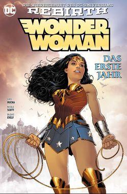 Wonder Woman: Das erste Jahr von Evely,  Bilquis, Kruhm,  Ralph, Rucka,  Greg, Scott,  Nicola