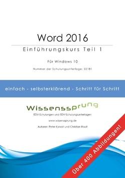 Word 2016 – Einführungskurs Teil 1 von Kynast,  Peter, Roolf,  Christian