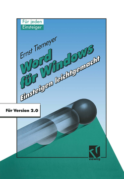 Word für Windows 2.0 von Tiemeyer,  Ernst