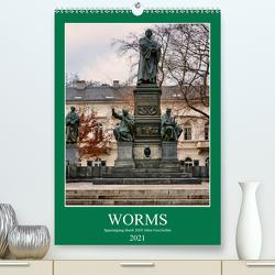 Worms – Spaziergang durch 2000 Jahre Geschichte (Premium, hochwertiger DIN A2 Wandkalender 2021, Kunstdruck in Hochglanz) von Bartruff,  Thomas
