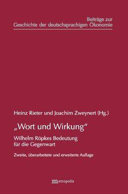 """""""Wort und Wirkung"""" von Rieter,  Heinz, Zweynert,  Joachim"""
