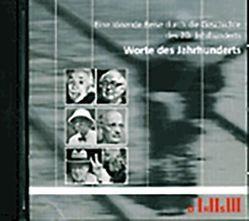 Worte des Jahrhunderts von Felder,  Pierre, Meyer,  Helmut, Wacker,  Jean-Claude