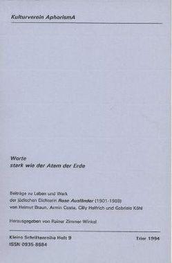 Worte stark wie der Atem der Erde von Braun,  Helmut, Costa,  Armin, Helfrich,  Cilly, Köhl,  Gabriele, Zimmer-Winkel,  Rainer
