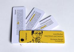 Wortfächer Hermann Burger von Burger,  Hermann