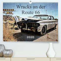Wracks an der Route 66 (Premium, hochwertiger DIN A2 Wandkalender 2020, Kunstdruck in Hochglanz) von Silberstein,  Reiner