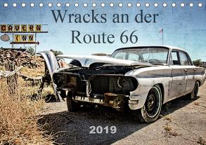 Wracks an der Route 66 (Tischkalender 2019 DIN A5 quer) von Silberstein,  Reiner