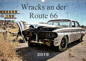 Wracks an der Route 66 (Wandkalender 2019 DIN A3 quer) von Silberstein,  Reiner
