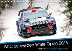 WRC Schweden White Open 2019 (Tischkalender 2019 DIN A5 quer)