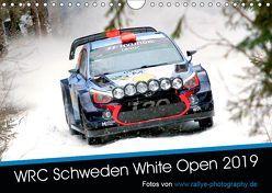 WRC Schweden White Open 2019 (Wandkalender 2019 DIN A4 quer)
