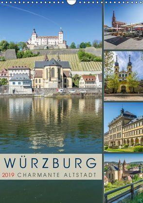 WÜRZBURG Charmante Altstadt (Wandkalender 2019 DIN A3 hoch) von Viola,  Melanie