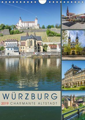 WÜRZBURG Charmante Altstadt (Wandkalender 2019 DIN A4 hoch) von Viola,  Melanie