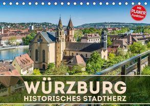 WÜRZBURG Historisches Stadtherz (Tischkalender 2018 DIN A5 quer) von Viola,  Melanie