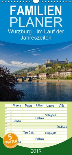 Würzburg – Im Lauf der Jahreszeiten – Familienplaner hoch (Wandkalender 2019 , 21 cm x 45 cm, hoch) von Müther,  Volker
