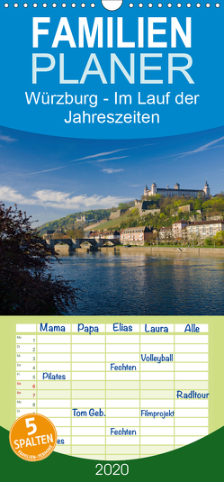 Würzburg – Im Lauf der Jahreszeiten – Familienplaner hoch (Wandkalender 2020 , 21 cm x 45 cm, hoch) von Müther,  Volker