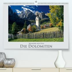 Wunder aus Fels Die Dolomiten (Premium, hochwertiger DIN A2 Wandkalender 2021, Kunstdruck in Hochglanz) von Janka,  Rick