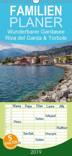 WUNDERBARER GARDASEE Riva del Garda und Torbole – Familienplaner hoch (Wandkalender 2019 , 21 cm x 45 cm, hoch) von Viola,  Melanie