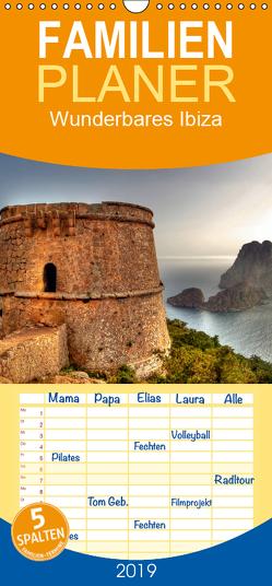 Wunderbares Ibiza – Familienplaner hoch (Wandkalender 2019 , 21 cm x 45 cm, hoch) von Bergenthal,  Jürgen