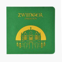 Wunderkarte Dresdner Zwinger grün