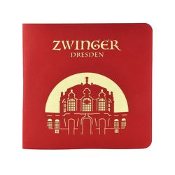 Wunderkarte Dresdner Zwinger rot