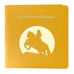 Wunderkarte Goldener Reiter Dresden gold von Korsh,  Marianna