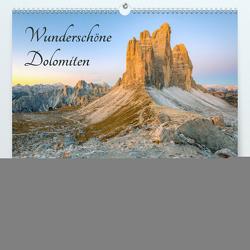 Wunderschöne Dolomiten (Premium, hochwertiger DIN A2 Wandkalender 2021, Kunstdruck in Hochglanz) von Valjak,  Michael