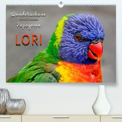 Wunderschöne Papageien – Lori (Premium, hochwertiger DIN A2 Wandkalender 2020, Kunstdruck in Hochglanz) von Roder,  Peter