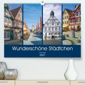 Wunderschöne Städtchen (Premium, hochwertiger DIN A2 Wandkalender 2021, Kunstdruck in Hochglanz) von Tetlak,  Andy