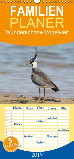 Wunderschöne Vogelwelt – Familienplaner hoch (Wandkalender 2019 , 21 cm x 45 cm, hoch) von Najak,  Angela