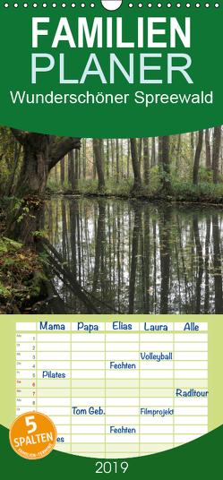 Wunderschöner Spreewald – Familienplaner hoch (Wandkalender 2019 , 21 cm x 45 cm, hoch) von Jäger,  Anette/Thomas