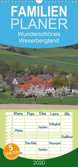 Wunderschönes Weserbergland – Familienplaner hoch (Wandkalender 2020 , 21 cm x 45 cm, hoch) von Lindert-Rottke,  Antje