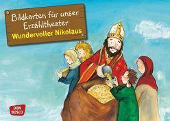 Wundervoller Nikolaus. Kamishibai Bildkartenset. von Herrmann,  Bettina, Lefin,  Petra, Wittmann,  Sybille