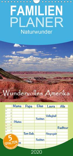 Wundervolles Amerika – Familienplaner hoch (Wandkalender 2020 , 21 cm x 45 cm, hoch) von by Sylvia Seibl,  CrystalLights