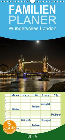 Wundervolles London – Familienplaner hoch (Wandkalender 2019 , 21 cm x 45 cm, hoch) von Meutzner,  Dirk
