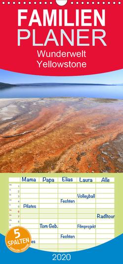 Wunderwelt Yellowstone 2020 – Familienplaner hoch (Wandkalender 2020 , 21 cm x 45 cm, hoch) von Anders,  Holm