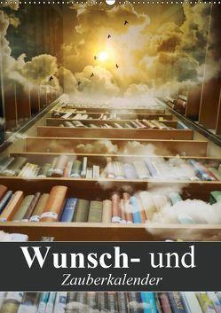 Wunsch- und Zauberkalender (Wandkalender 2019 DIN A2 hoch) von Stanzer,  Elisabeth