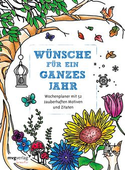 Wünsche für ein ganzes Jahr: Malbuch für Erwachsene