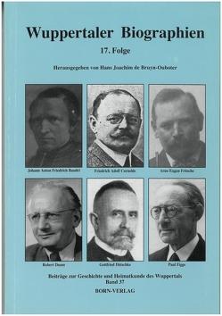 Wuppertaler Biographien von Bettecken,  Wilhelm, Bruyn-Ouboter,  Hans J de, Keyl,  Werner, Metchies,  Michael