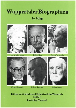 Wuppertaler Biographien von Metchies,  Michael, Metschies,  Michael, Schnöring,  Kurt, Wolff,  Heinz