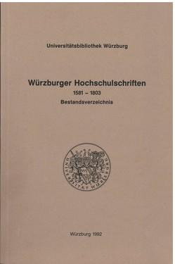 Würzburger Hochschulschriften von Mälzer,  Gottfried