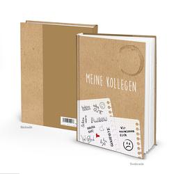 "XXL Kollegenbuch ""Notizzettel"" Kraftpapier-Optik beige (Hardcover A4, Blankoseiten)"